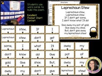 Build a Poem ~ Leprechaun Stew ~ St. Patrick's Day Pocket Chart Center