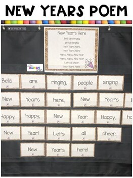 Build a Poem ~ New Years ~ Pocket Chart Poetry Center