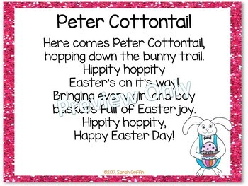 Build a Poem ~ Peter Cottontail ~ Easter Pocket Chart Center