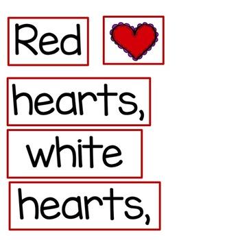 Build a Poem Pocket Chart Activity: Colorful Valentines