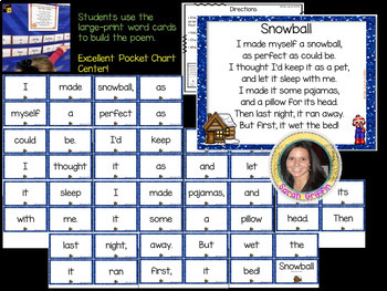 Build a Poem ~ Snowball - Pocket Chart Poetry Center