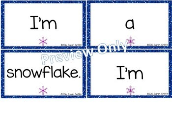 Build a Poem ~ I'm a Snowflake ~ Winter poem for pocket chart center