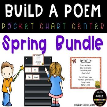 Build a Poem Spring Pocket Chart Centers - Bundle