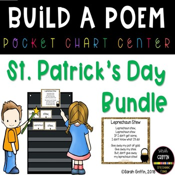 Build a Poem St. Patrick's Day Pocket Chart Centers - Bundle
