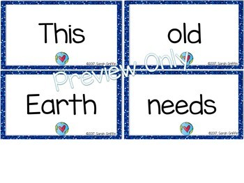 Build a Poem ~ This Old Earth ~ Pocket Chart Center