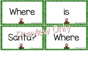 Build a Poem ~ Where is Santa? ~ pocket chart poetry center