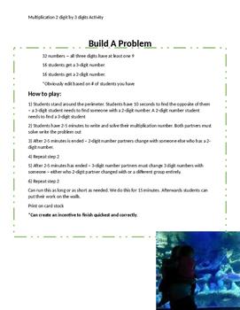 Build a Problem Multiplication Activity