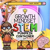Pumpkin Candy Container Growth Mindset Halloween STEM Activity