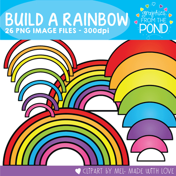 Build a Rainbow -  Clipart for Teaching Resources