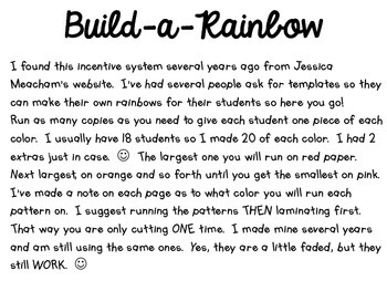 Build a Rainbow Freebie
