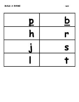 Build a Rhyme Using Short Vowel Word Chuncks