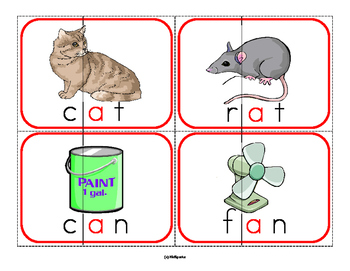 Build a Rhyming Word Centers Puzzles 60 Words