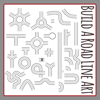 Build a Road Line Art Clip Art Pack for Commercial Use