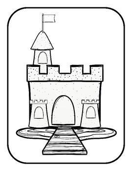 Build a Sand Castle File Folder Game