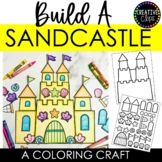 Build a Sandcastle Craft: Summer Coloring Pages