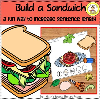 Build a Sandwich Activity To Increase Sentence Length in Speech Language Therapy
