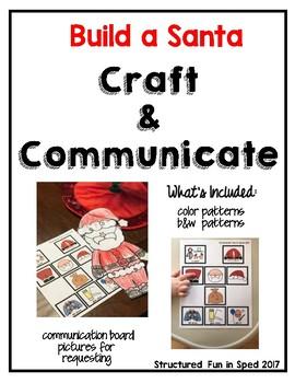 Santa Craft-CommunicationVisuals for Preschool, Pre-K and Special Needs