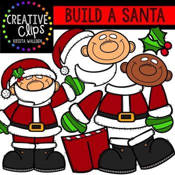 Build a Santa {Creative Clips Digital Clipart}