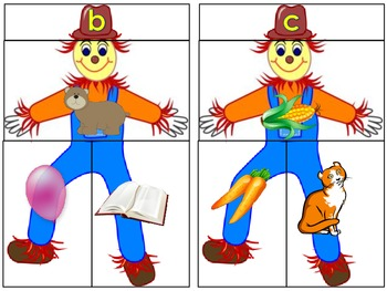 Beginning/Initial Sounds Build a Scarecrow Literacy Center  Word Work Daily 5