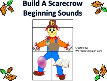 Beginning/Initial Sounds Build a Scarecrow Literacy Center