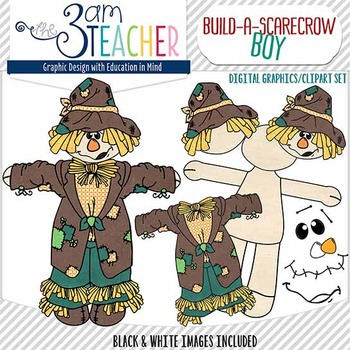 Build a Scarecrow Bundled Clip Art Set