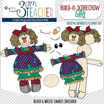 Build a Scarecrow Bundled Clip Art Set