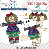 Build a Scarecrow Clip Art Set #2 (girl)