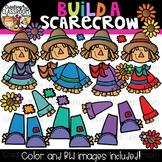 Build a Scarecrow Clipart {Scarecrow Clipart}