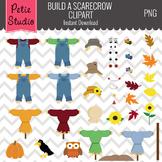 Build a Scarecrow Clipart Set // Fall Harvest Clipart - Scarecrow100