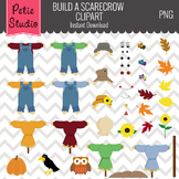 Build a Scarecrow Clipart Set // Fall Harvest Clipart - Sc