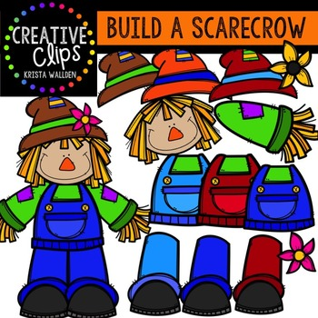 Build a Scarecrow {Creative Clips Digital Clipart}