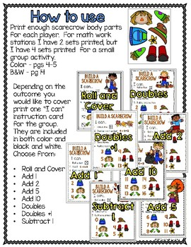 Build a Scarecrow - Eight Math Games in One!