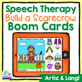 Build a Scarecrow Fall Boom Cards for Speech Therapy