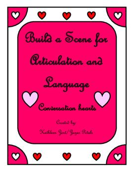 Build a Scene for Articulation Valentine Conversation Hearts
