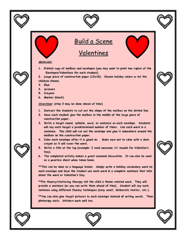 Build a Scene for Articulation and Language: Valentine's and Mailbox