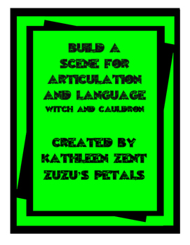 Build a Scene for Articulation and Language: Witch's Cauldron for Halloween