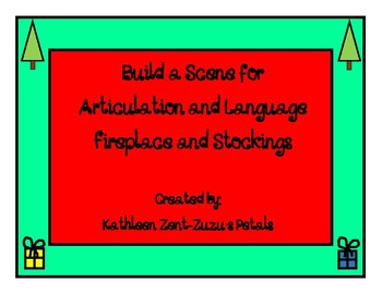Build a Scene for Christmas: Fireplace and Stockings