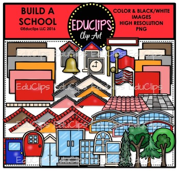 Build a School Clip Art Bundle