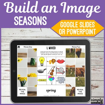 Build a Seasonal Image No Print Speech and Articulation Puzzle Game