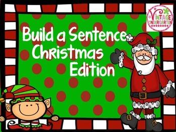 Build a Sentence - Christmas Edition