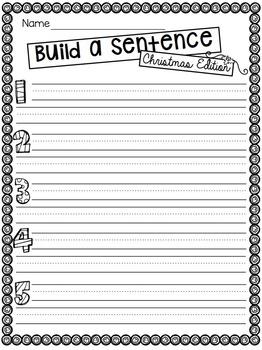 Build a Sentence Christmas Edition