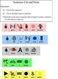 Build a Sentence Color-Coded Cut & Paste Puzzle, Color Words; Boardmaker spec ed