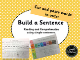 Build a Sentence- Cut and Paste