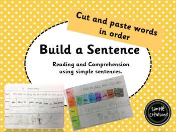 Build a Sentence- Cut and Paste
