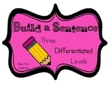 Build a Sentence Differentiated for Literacy Centers in BL