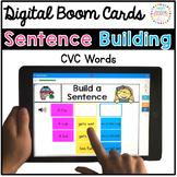 Sentence Building Digital Boom Cards: CVC Words