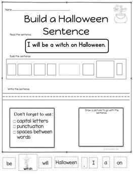 Halloween ~ Build a Sentence