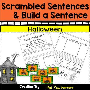 Build a Sentence  Halloween