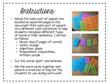 Build a Sentence Interactive Word Work