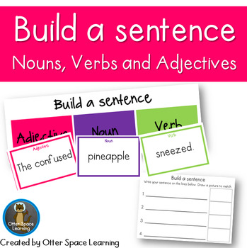 Building sentences with adjectives teaching resources teachers pay build a sentence nouns verbs and adjectives fandeluxe Images